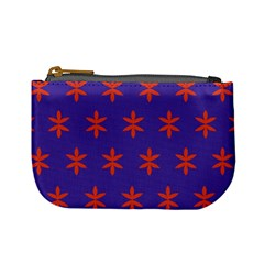 Flower Floral Different Colours Purple Orange Mini Coin Purses by Alisyart