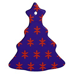 Flower Floral Different Colours Purple Orange Christmas Tree Ornament (two Sides)