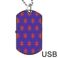 Flower Floral Different Colours Purple Orange Dog Tag Usb Flash (two Sides) by Alisyart