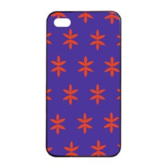 Flower Floral Different Colours Purple Orange Apple Iphone 4/4s Seamless Case (black) by Alisyart