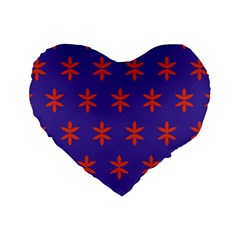 Flower Floral Different Colours Purple Orange Standard 16  Premium Heart Shape Cushions by Alisyart