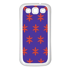 Flower Floral Different Colours Purple Orange Samsung Galaxy S3 Back Case (white) by Alisyart