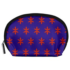 Flower Floral Different Colours Purple Orange Accessory Pouches (large)  by Alisyart