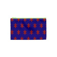 Flower Floral Different Colours Purple Orange Cosmetic Bag (xs) by Alisyart