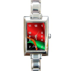 Fractal Construction Rectangle Italian Charm Watch by Simbadda