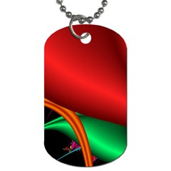 Fractal Construction Dog Tag (two Sides) by Simbadda
