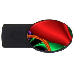 Fractal Construction Usb Flash Drive Oval (4 Gb) by Simbadda