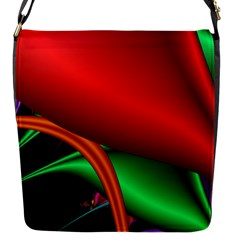 Fractal Construction Flap Messenger Bag (s) by Simbadda