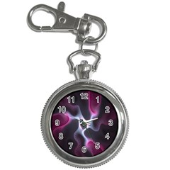 Colorful Fractal Background Key Chain Watches by Simbadda