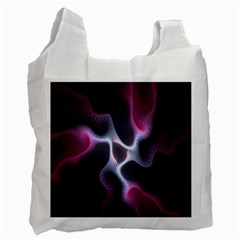 Colorful Fractal Background Recycle Bag (one Side) by Simbadda