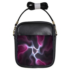 Colorful Fractal Background Girls Sling Bags