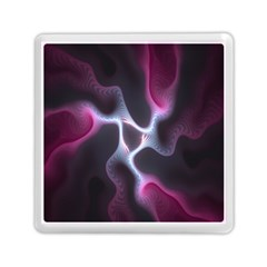 Colorful Fractal Background Memory Card Reader (square)