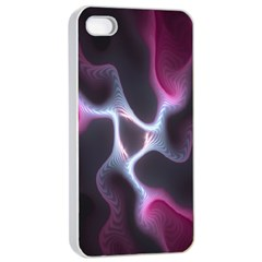 Colorful Fractal Background Apple Iphone 4/4s Seamless Case (white) by Simbadda