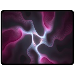 Colorful Fractal Background Double Sided Fleece Blanket (large)  by Simbadda