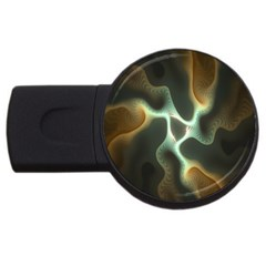 Colorful Fractal Background Usb Flash Drive Round (2 Gb) by Simbadda