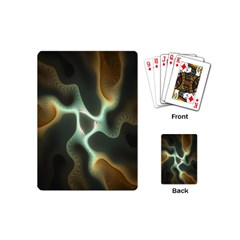 Colorful Fractal Background Playing Cards (mini)  by Simbadda