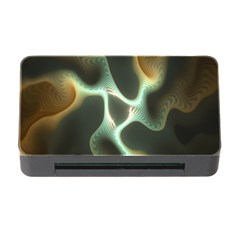 Colorful Fractal Background Memory Card Reader With Cf by Simbadda