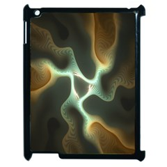 Colorful Fractal Background Apple Ipad 2 Case (black) by Simbadda