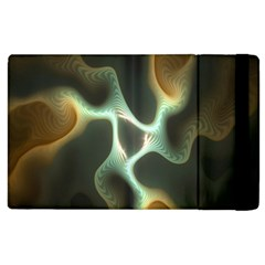 Colorful Fractal Background Apple Ipad 3/4 Flip Case by Simbadda