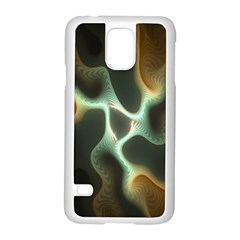 Colorful Fractal Background Samsung Galaxy S5 Case (white)