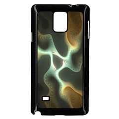 Colorful Fractal Background Samsung Galaxy Note 4 Case (black) by Simbadda