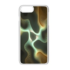 Colorful Fractal Background Apple Iphone 7 Plus White Seamless Case