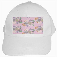 Floral Flower Rose Sunflower Star Leaf Pink Green Blue White Cap by Alisyart