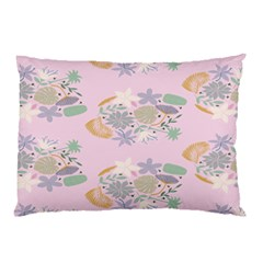 Floral Flower Rose Sunflower Star Leaf Pink Green Blue Pillow Case by Alisyart