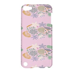 Floral Flower Rose Sunflower Star Leaf Pink Green Blue Apple Ipod Touch 5 Hardshell Case by Alisyart