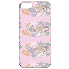 Floral Flower Rose Sunflower Star Leaf Pink Green Blue Apple Iphone 5 Classic Hardshell Case by Alisyart