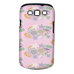 Floral Flower Rose Sunflower Star Leaf Pink Green Blue Samsung Galaxy S Iii Classic Hardshell Case (pc+silicone)