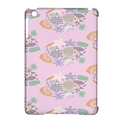 Floral Flower Rose Sunflower Star Leaf Pink Green Blue Apple Ipad Mini Hardshell Case (compatible With Smart Cover) by Alisyart