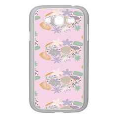 Floral Flower Rose Sunflower Star Leaf Pink Green Blue Samsung Galaxy Grand Duos I9082 Case (white) by Alisyart
