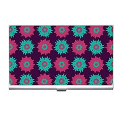 Flower Floral Rose Sunflower Purple Blue Business Card Holders