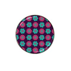 Flower Floral Rose Sunflower Purple Blue Hat Clip Ball Marker (10 Pack) by Alisyart