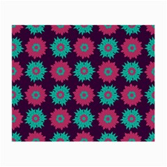 Flower Floral Rose Sunflower Purple Blue Small Glasses Cloth (2 Side) by Alisyart