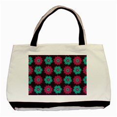 Flower Floral Rose Sunflower Purple Blue Basic Tote Bag (two Sides)