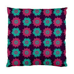 Flower Floral Rose Sunflower Purple Blue Standard Cushion Case (one Side)