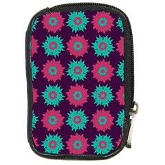 Flower Floral Rose Sunflower Purple Blue Compact Camera Cases