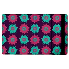 Flower Floral Rose Sunflower Purple Blue Apple Ipad 3/4 Flip Case by Alisyart