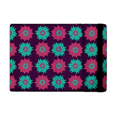 Flower Floral Rose Sunflower Purple Blue Apple Ipad Mini Flip Case by Alisyart