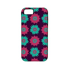 Flower Floral Rose Sunflower Purple Blue Apple Iphone 5 Classic Hardshell Case (pc+silicone)