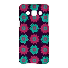 Flower Floral Rose Sunflower Purple Blue Samsung Galaxy A5 Hardshell Case  by Alisyart