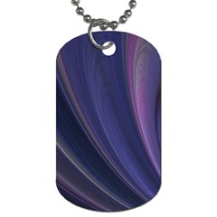 Purple Fractal Dog Tag (one Side) by Simbadda