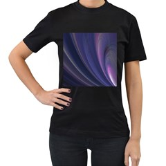 Purple Fractal Women s T Shirt (black) (two Sided) by Simbadda