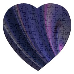 Purple Fractal Jigsaw Puzzle (heart) by Simbadda