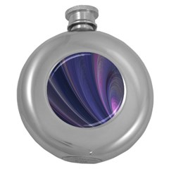 Purple Fractal Round Hip Flask (5 Oz) by Simbadda