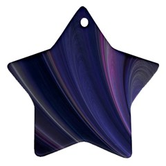 Purple Fractal Star Ornament (two Sides) by Simbadda
