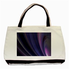 Purple Fractal Basic Tote Bag (two Sides) by Simbadda