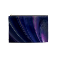 Purple Fractal Cosmetic Bag (medium)  by Simbadda